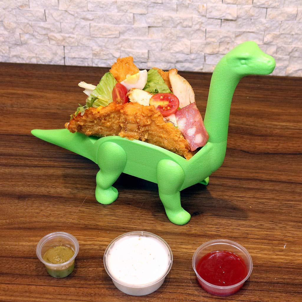 Tronet Taco Holder The Ultimate Prehistoric Taco Stand for Taco Tuesdays and Dinosaur (A, Green) by Tronet (Image #6)