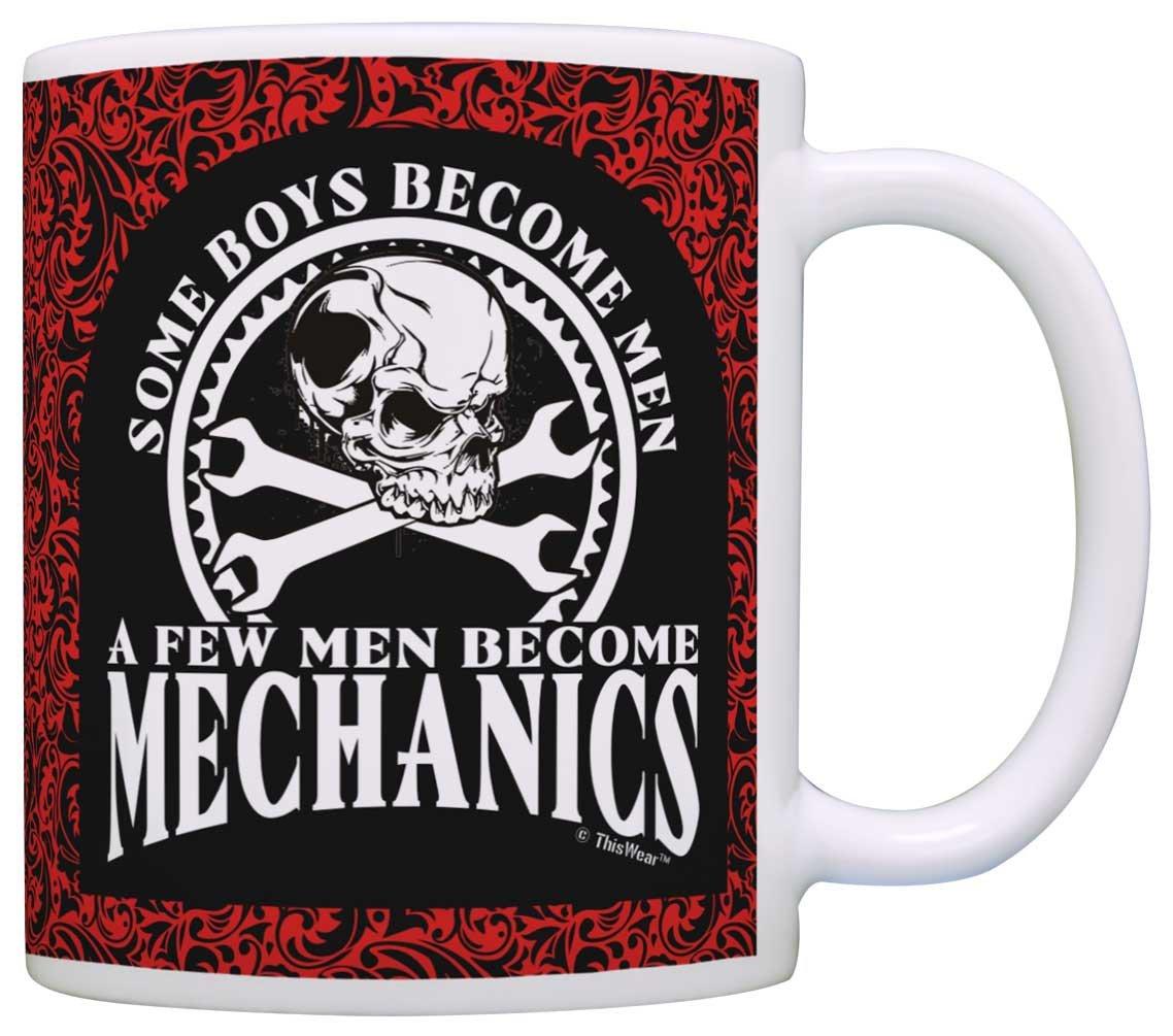 Mechanic Gift Some Boys Become Men Few Become Mechanics 2 Pack Gift Coffee  Mugs Tea Cups Paisley