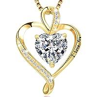 LAVUMO Collares Mujer Amor Colgante de Corazón Oro Rosa Plata de Ley 925 Collares de Mujer,Joyas Regalos para Esposa…