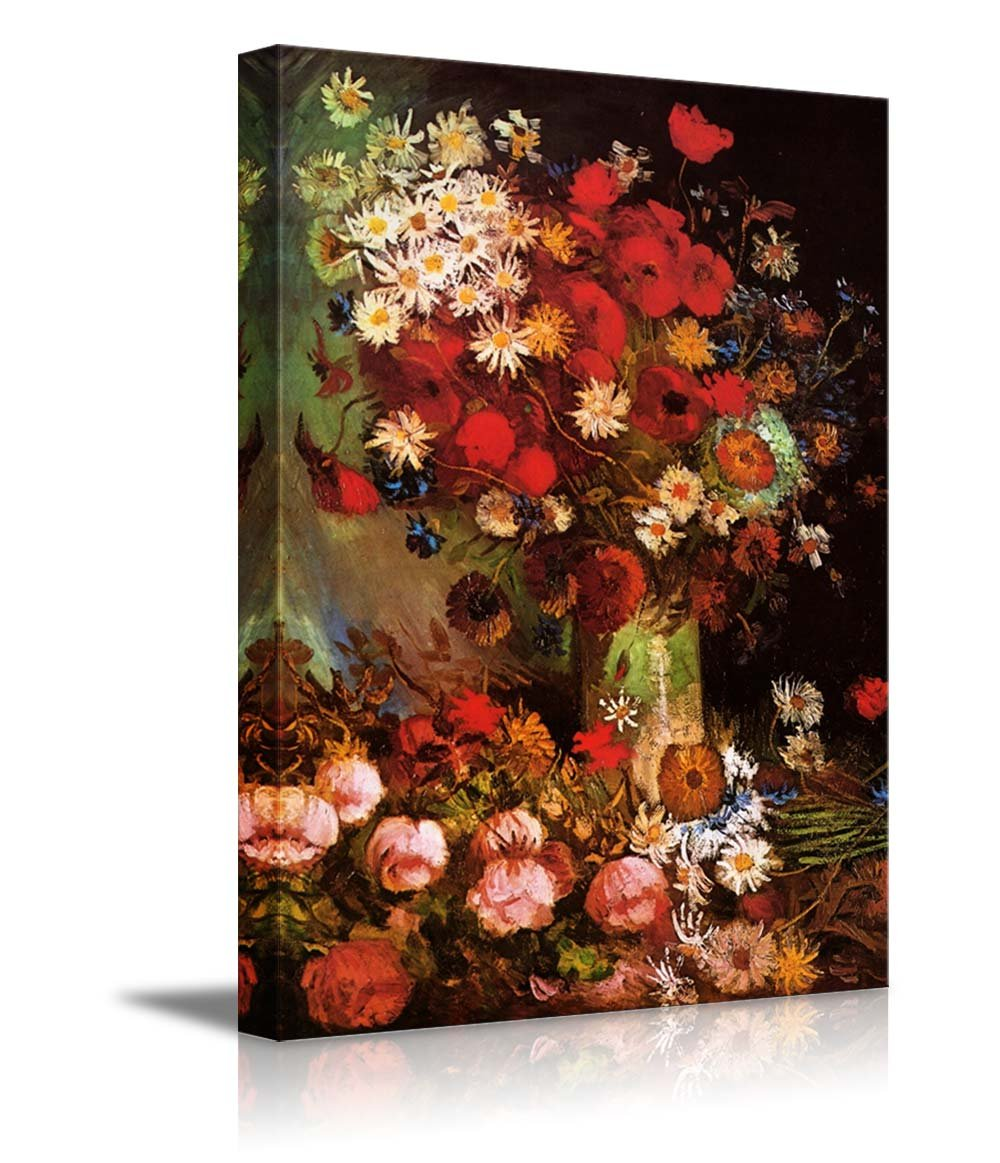 Poppy Flowers By Vincent Van Gogh Oil Painting Reproduction Canvas