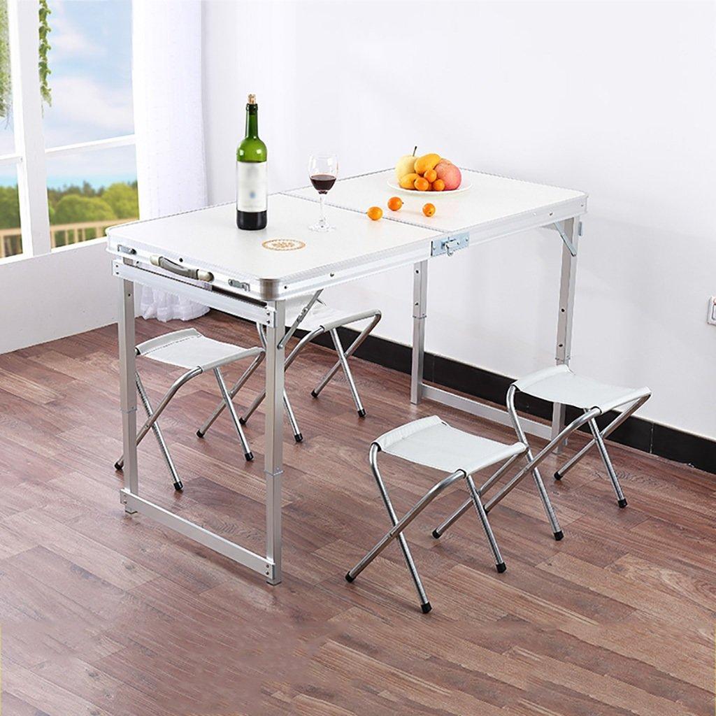折りたたみテーブルと椅子ポータブル屋外キャンプ屋内机アルミ合金多機能ダイニングテーブルコンピュータデスク120cm x 60cm(L&W) (色 : A) B07GB7GF6K A