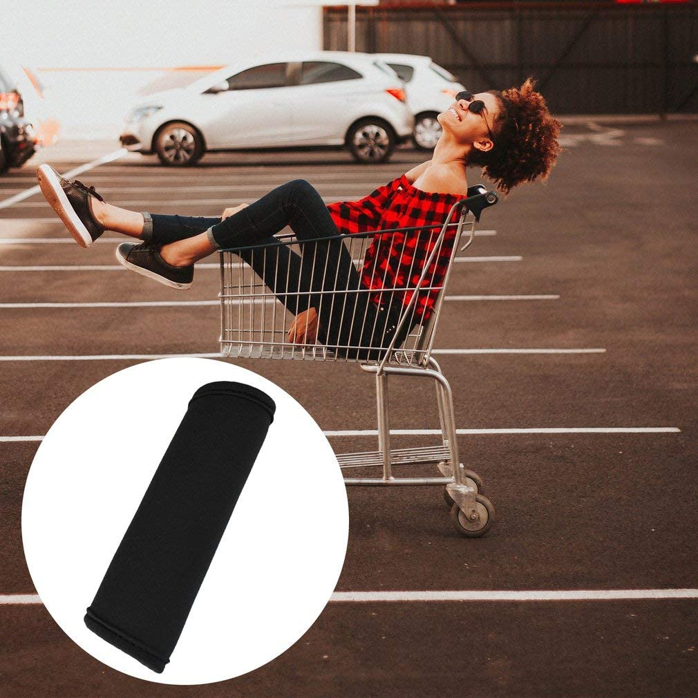 Kitechildheed Poussette Grip Cover Bagage Poign/ée Wrap Grip pour Sac de Voyage Valise Bagage Noir