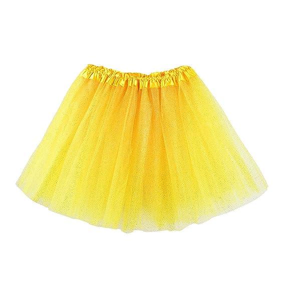 7240f01f6 Cinnamou Falda de Ballet Niña, Tutú de Malla Lentejuelas Disfraces ...