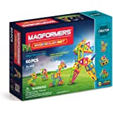 Magformers Creator Neon Color Set (60-Pieces) Magnetic Building Blocks, Educational Magnetic Tiles Kit , Magnetic Constructio