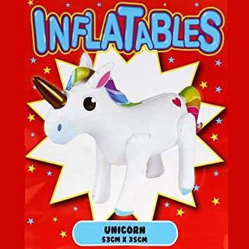 Piñata de unicornio hinchable de plástico, juguete de unicornio ...