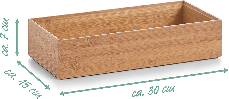 Zeller 13333 Caja para Poner Orden, Madera, Marrón, 30x15x7 cm: Amazon.es: Hogar