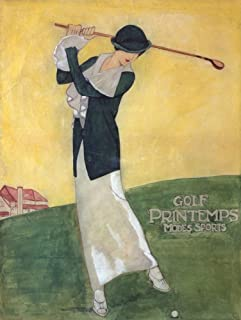 product image for Golf - Printemps - Modes Sports Vintage Poster (artist: Dudovich) France (9x12 Art Print, Wall Decor Travel Poster)