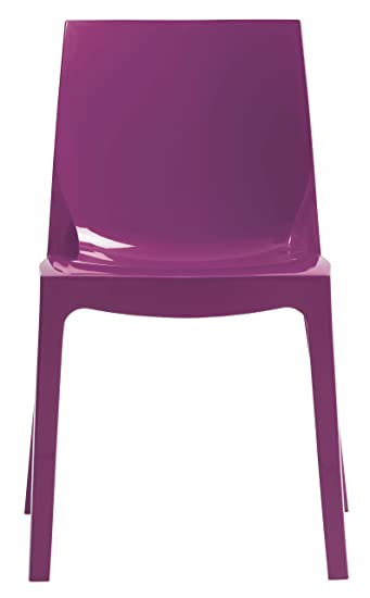 sedia da cucina moderna lucida lilla viola vari colori super prezzo