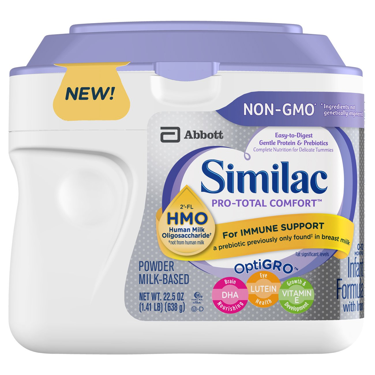 Similac Pro-Total Comfort Infant Formula, Non-GMO, Easy-to-Digest, Gentle Formula, with 2'-FL Hmo, for Immune Support, Baby Formula, Powder, 36 oz, 3 Count (One Month Supply) with 2'-FL Hmo ABBN7 - pallet ordering 070074667966