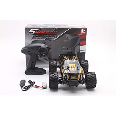 iMeshbean 1:16 Scale Electric RC Car Off Road Vehicle 2.4GHz Radio Remote Control Car 25+KMH High Speed Racing Monster Truck (Gold): Toys & Games