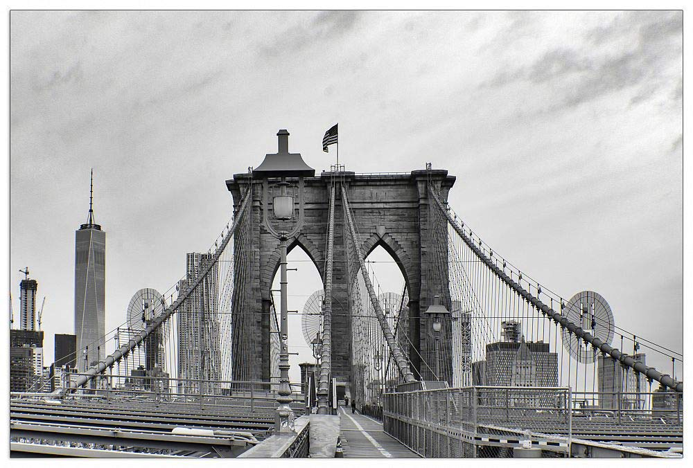 ArtPlaza TW93367 Art Studio-Brooklyn Bridge Decorative Panel, 39.5x27.5 Inch, Multicolored