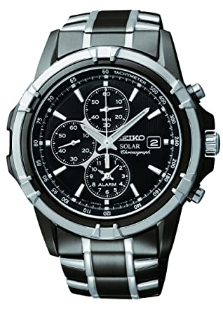 Amazon Com Seiko Men S Ssc143 Stainless Steel Solar Watch With Link