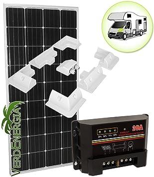 EurSolar - Panel solar para autocaravanas - Kit de 160W de ...