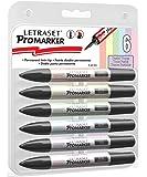 Letraset ProMarker Set - Pastel Tones (6 Colours)