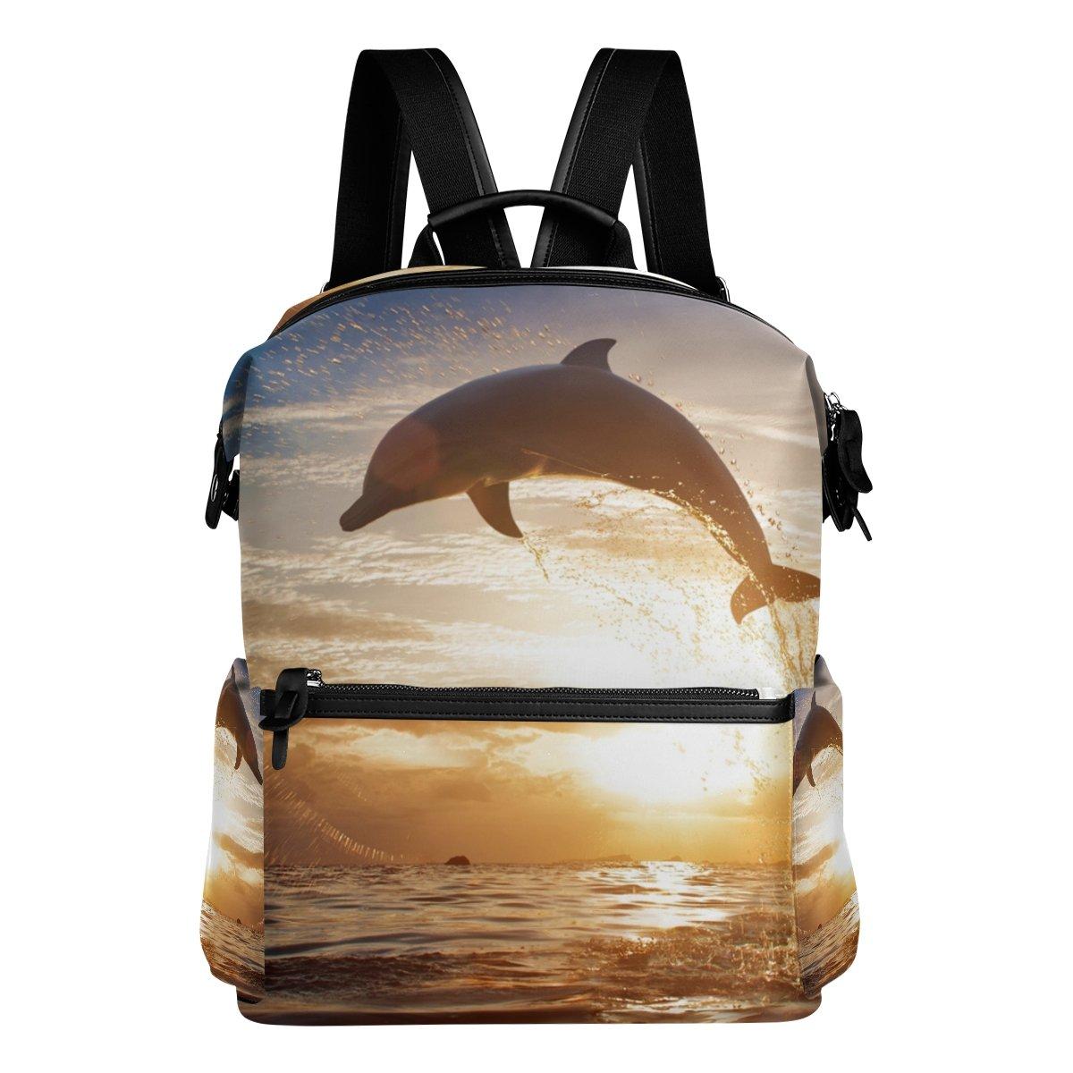 COOSUN Zaino da viaggio Jumping Dolphin scuola zaino Multi