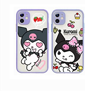 Kuromi Phone Case,Cute Cartoon iPhone 11 PRO MAX(6.5) Mobile Phone Case,for iPhone 11 PRO MAX (2 PCS)