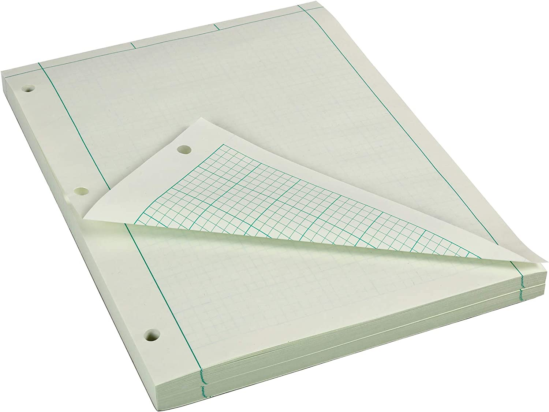 "AmazonBasics Engineering Computation Pad, 8.5"" x 11"", Quad/Margin Rule, 200 Sheets"