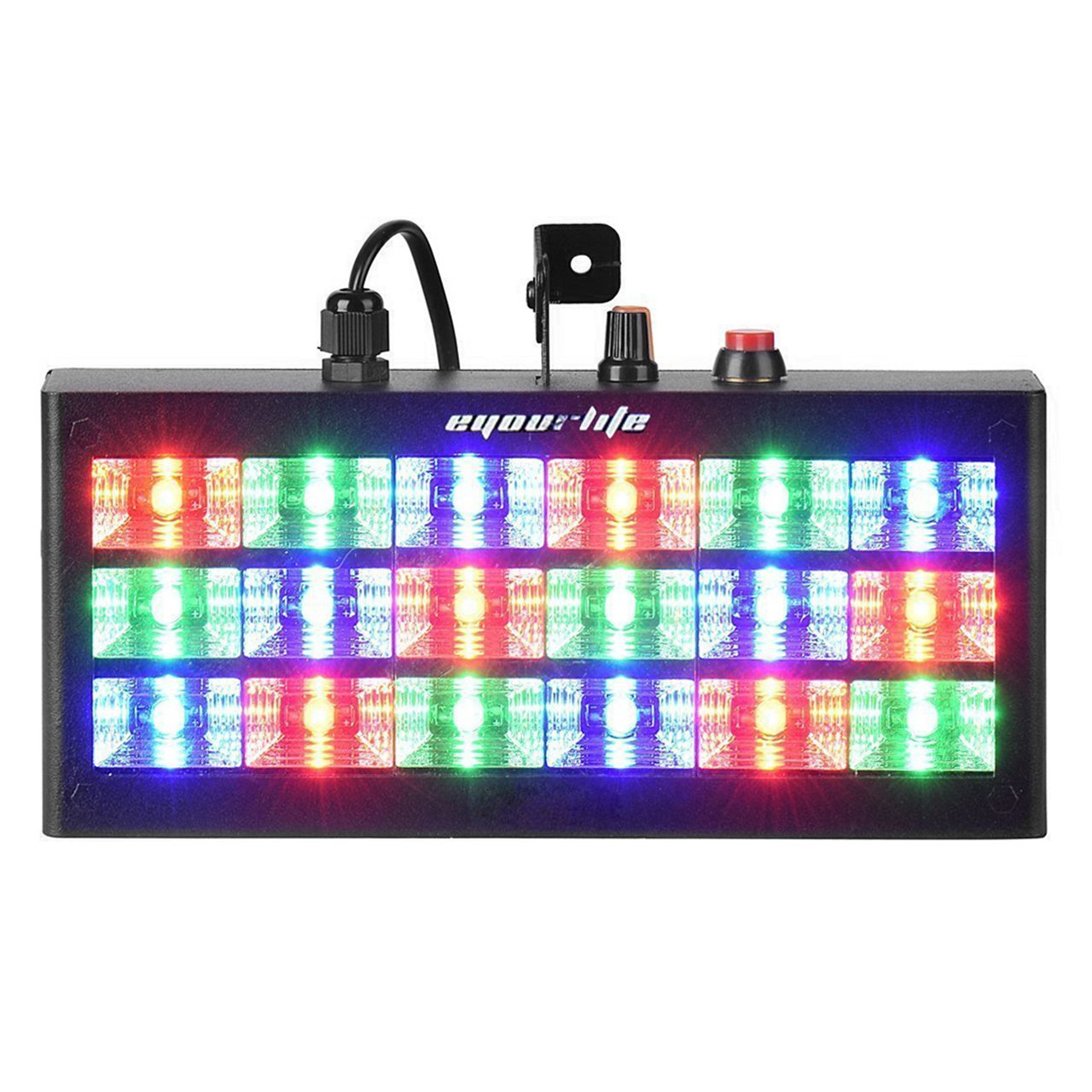 Eyourlife 18 LED 60w Strobe RGB Flash Light Stage Party Lighting Sound Activated for Club Disco Party Bar DJ by Eyourlife