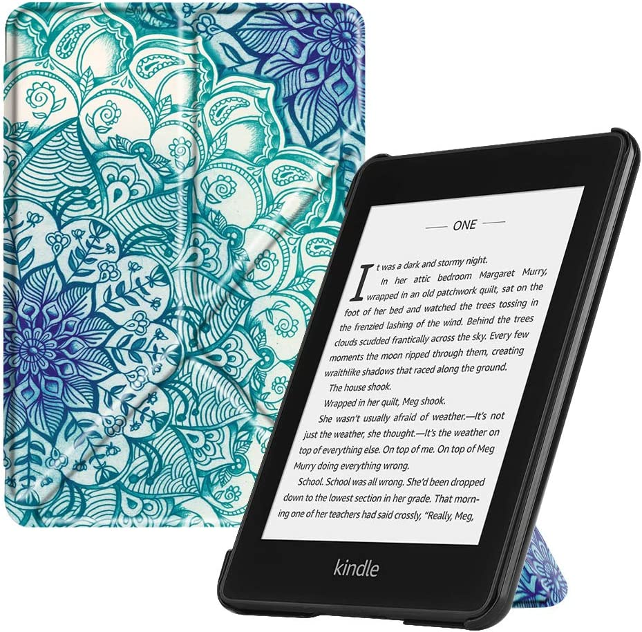 Starry Sky // Kindle Fintie Stand Case for All-New Kindle 8th Generation, 2016 10th Generation, 2019 - Premium PU Leather Protective Sleeve Cover with Card Slot and Hand Strap