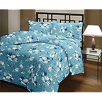 DEILYVERY Microfiber Flower Print Single Bed Reversible AC Blanket | Dohar | Quilt | Comforter | Duvet