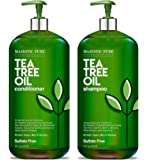 MAJESTIC PURE Tea Tree Shampoo and Conditioner Set for Men and Women -16 fl oz each - Hydrating and Fighting Dandruff…