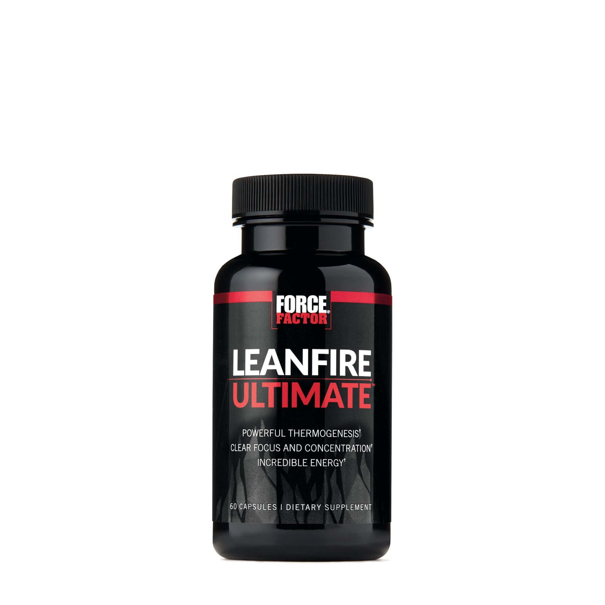 Force Factor LeanFire Ultimate Premium Thermogenic Fat Burner with Added Energy, Focus, Concentration, & Appetite Control for Weight Loss, 60 Count