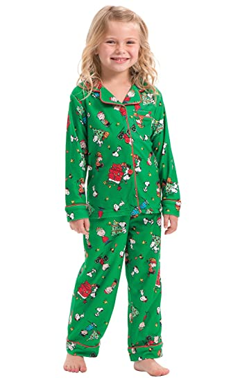 b66597abe9 Amazon.com  PajamaGram Unisex Toddler Christmas Pajamas - Charlie ...