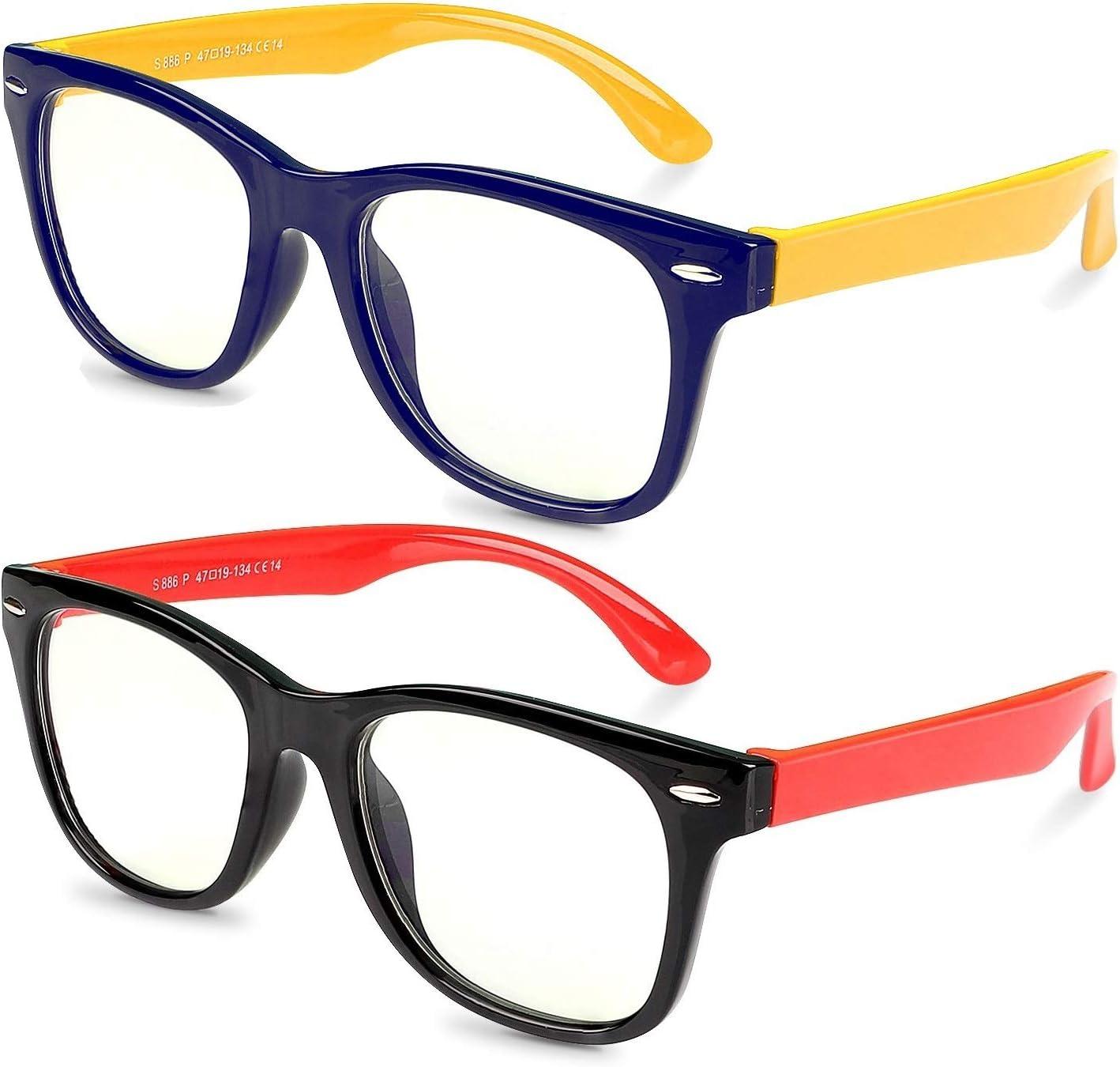 Gafas de Luz Anti-azul para Niños, Proteja Los Ojos de Los y Bloquee la Dañina Luz Azul Emitida por Luces Fluorescentes, LED, Televisores LCD, Pantallas Electrónicas, Proyectores y Cámaras,Edad 3-12