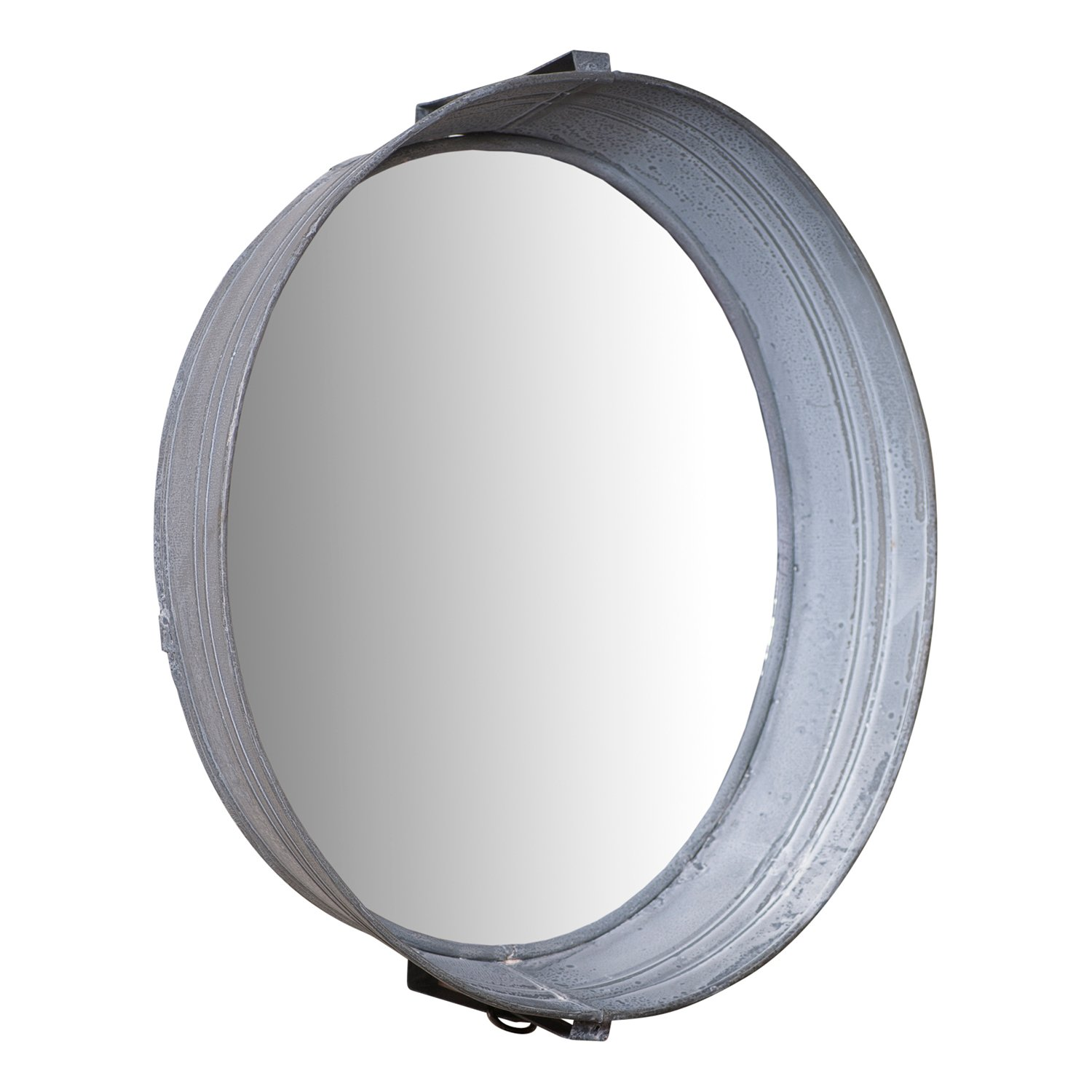 Irvin's Country Tinware Washtub Mirror in Weathered Zinc