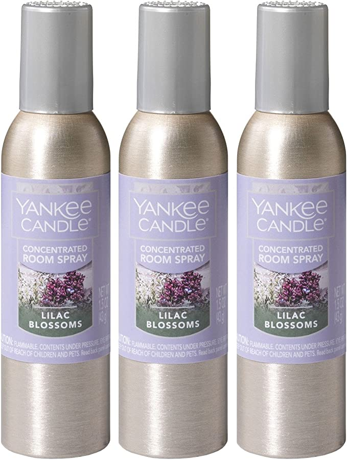 Yankee Candle Concentrated Room Spray 3 Pack Lilac Blossoms Home Kitchen Amazon Com
