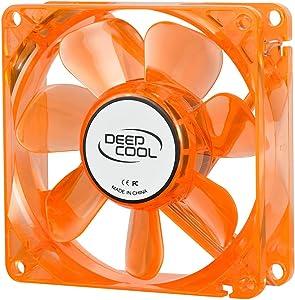 Logisys Corp. 92mm Orange Cooling Fan Case with Green LED CF90OG