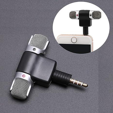 Mini port/átil est/éreo digital del registrador del micr/ófono para Smartphone con 3,5 mm Jack Grabadora de dispositivos