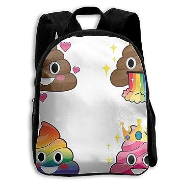 DaXi1 Emoji Rainbow Poop - Mochilas Personalizadas para niños, Color Rosa: Amazon.es: Hogar