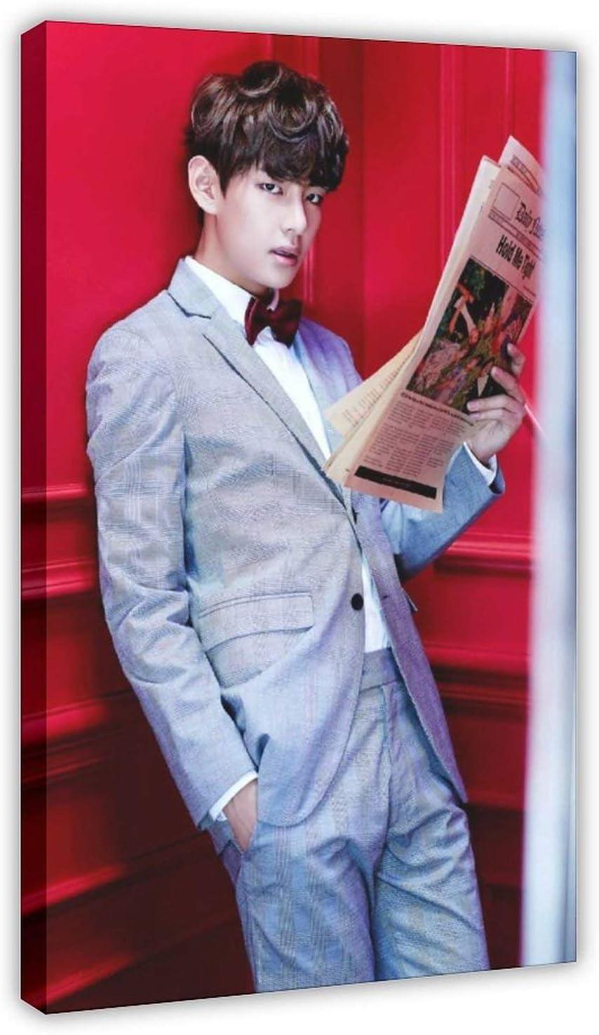 Póster de la banda BTS Kim Tae Hyung Singer 4 1, lienzo para ...