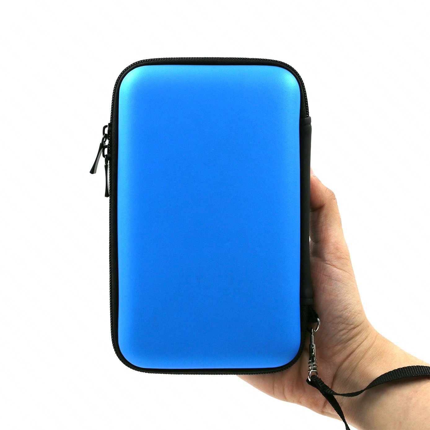 ADVcer 3DS Case, EVA Waterproof Hard Shield Protective Carrying Case with Detachable Hand Wrist Strap for Nintendo New 3DS XL, New 3DS, 3DS XL, 3DS, 3DS LL or 2DS XL or DSi, DS Lite (Blue)