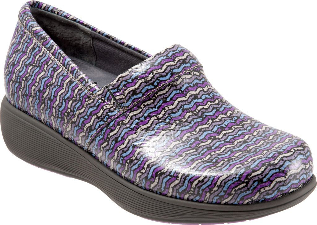 SoftWalk Women's Meredith Clog B01HQS9HX4 12 B(M) US|Eggplant Multi