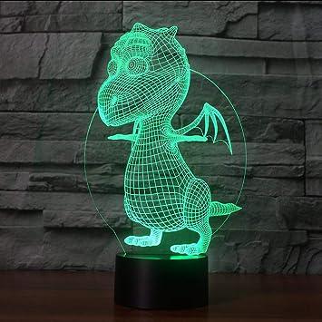 Amazon.com: Shuangklei - Lámpara de mesa 3D con diseño de ...