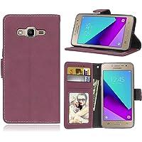 Funda Samsung Galaxy Grand Prime Plus / J2 Prime G532F,Bookstyle 3 Card Slot PU Cuero Cartera para TPU Silicone Case…
