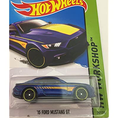 Hot Wheels 2015 HW Workshop '15 Ford Mustang GT 247/250, Blue: Toys & Games
