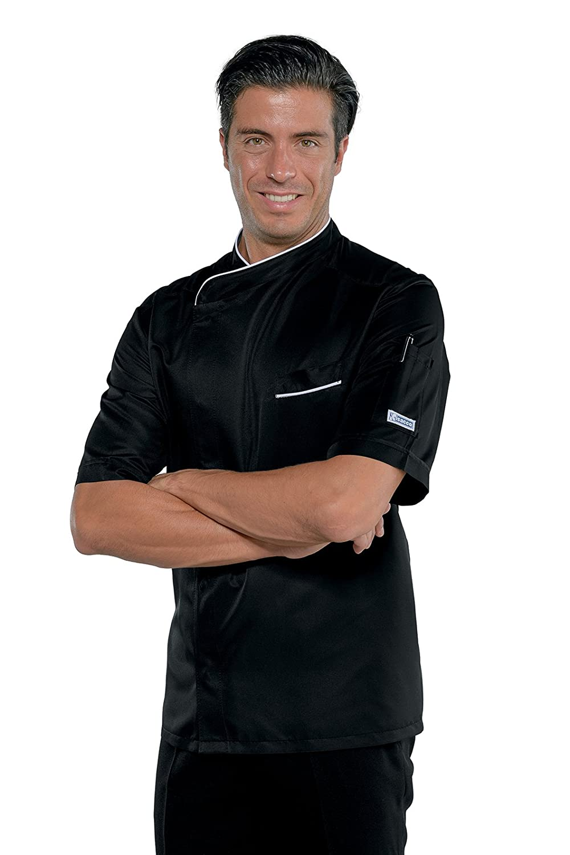 Isacco Giacca cuoco Bilbao Bianco+Italy 65/% Poliestere 35/% Cotone Manica Lunga Bianco+Italy 3XL F.I.C.