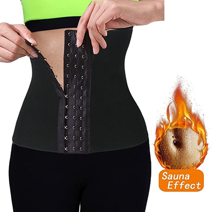 e89920bb71 FLORATA Women Neoprene Waist Trainer Slimming Belt Body Shaper Underbust  Corset at Amazon Women s Clothing store