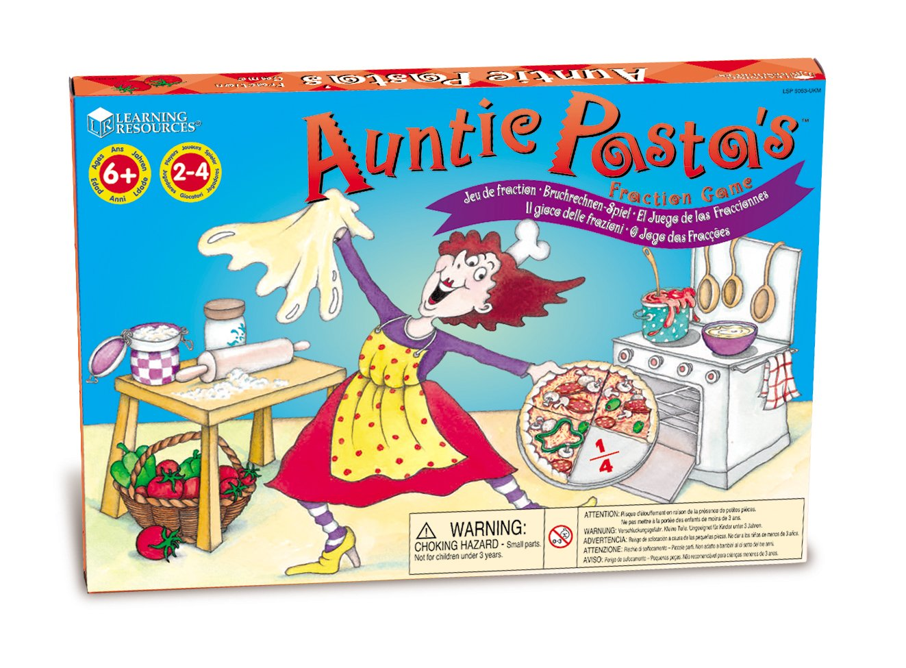 Learning Resources Auntie Pasta's Fraction Game by Learning Resources