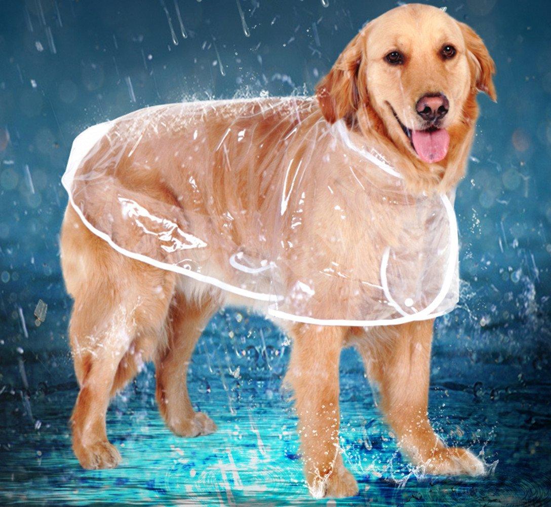 3XL zhxinashu Large Dogs Raincoat Transparent waterproof Outdoor Clothes XS-6XL