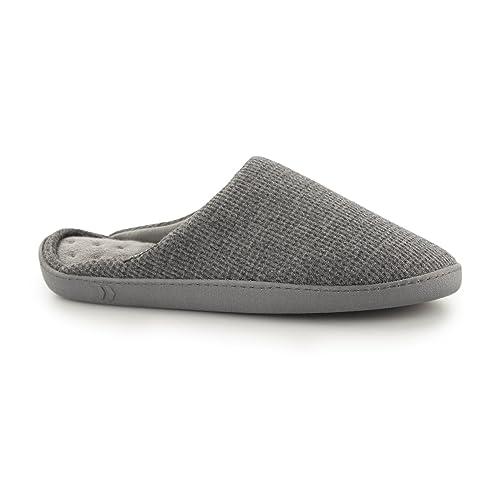 Isotoner - Zapatillas de Estar por casa para Hombre Gris Gris: Amazon.es: Zapatos y complementos