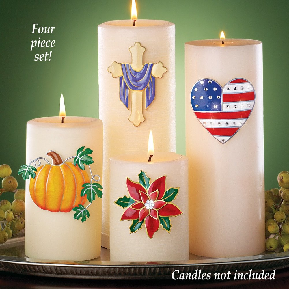 Amazon.com: Seasonal Candle Pins - Set Of 4: Home & Kitchen
