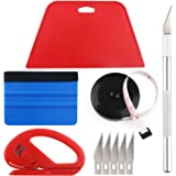 Wallpaper Smoothing Tool Kit Include Black Tape Measure,red Squeegee,Medium-Hardness Squeegee,snitty Vinyl Cutter and…