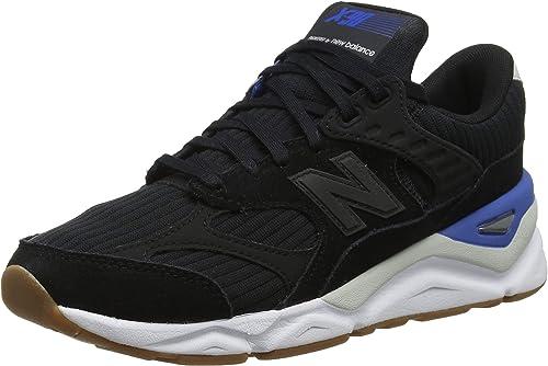 New Balance Men/'s X-90 Shoes Black With Blue
