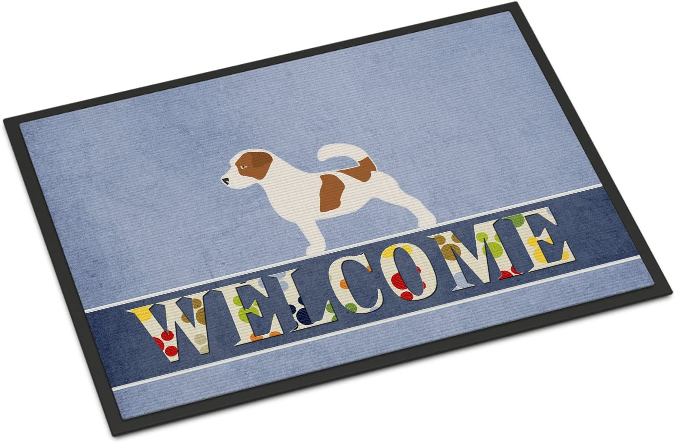 Caroline s Treasures BB5511MAT Jack Russell Terrier Welcome Indoor or Outdoor Mat 18×27, 18H X 27W, Multicolor