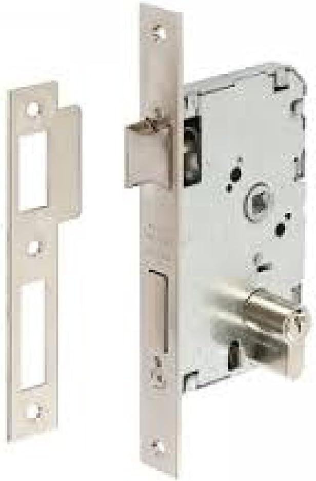 Tesa Assa Abloy, 20106PHN, Cerradura de embutir para puertas de madera, Función de entrada, Acero Niquelado