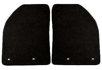 Black Coverking Custom Fit Front Floor Mats for Select Mercedes-Benz C-Class Models Nylon Carpet